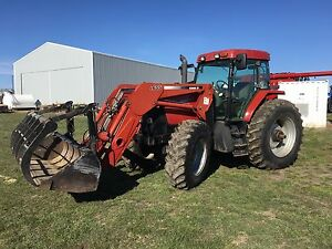 Case MX 120 with loader and grapple bucket