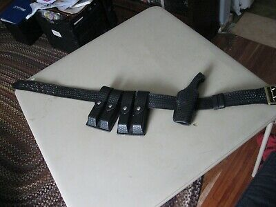 Dutyman Leather Basketweave Belt 1021 Size 36 Security Police Equipment