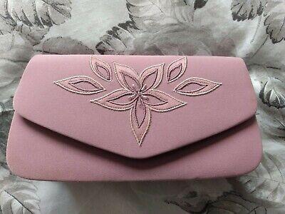Jacques Vert Ladies Mauve Clutch Bag