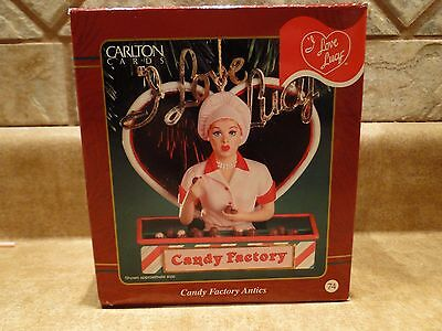 CARLTON CARDS HEIRLOOM COLLECTION I LOVE LUCY CANDY FACTORY ANTICS ORNAMENT