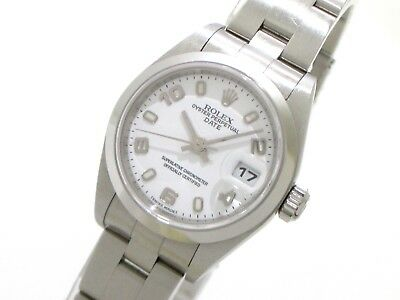 Auth ROLEX Oyster Perpetual Date 79160 Silver Women