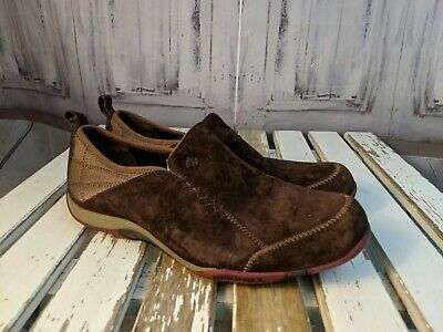 Womens shoes comfort flats slip clogs work Merrell 7.5 Bisect coffee bean brown  - Merrell Slip-clogs