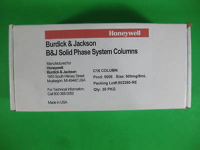 Honeywell Burdick Jackson Silica Column C18 -- 9006 -- Pack Of 30 New