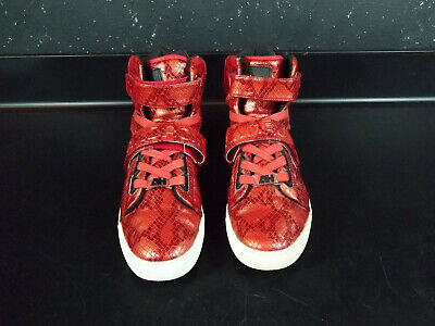 Android Homme Men's Propulsion Hi 2.5 Wine/Red Snakeskin print Sneakers Sz 10