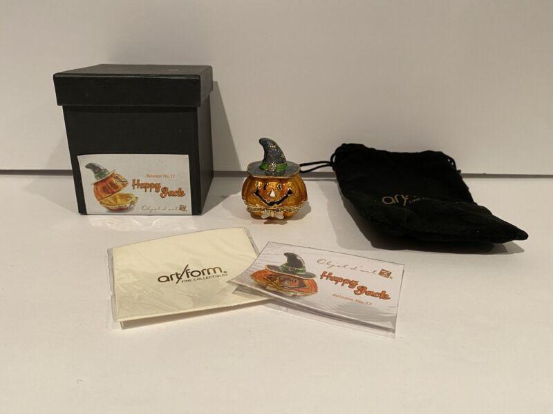 Objet d'Art Happy Jack Trinket Box Release #17 Pumpkin Jackal Trinket Box NEW!