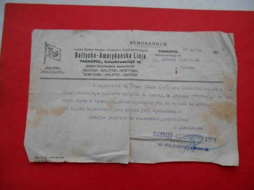 Emigration to Canada 1927 RARE Document letter answer marine company for request