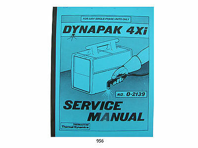 Thermal Dynamics Model 4xi Dynapak Plasma Cutter Service Manual 956