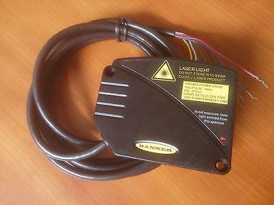 Banner L-gage Lt3nu Laser Distance Measurement Sensor Tested Warranty