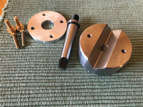 Lathe Crotch Center, Bench Block, MT-2 Arbor, Tailstock Drill Pad, Clamp Plate