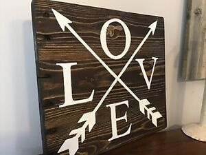 Hand Painted on Reclaimed Wood Valentine