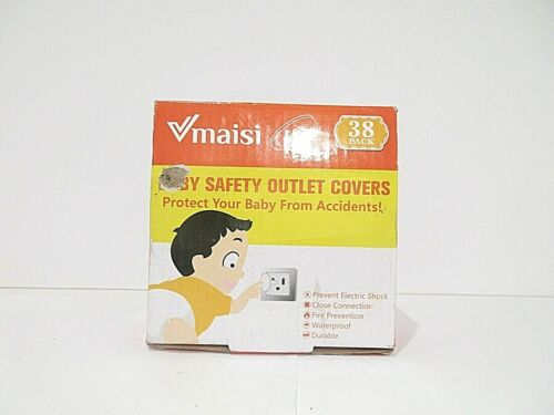 Maisi pack of 38 Baby Safety Outlet Covers Accident Proof to Keep Baby Safe