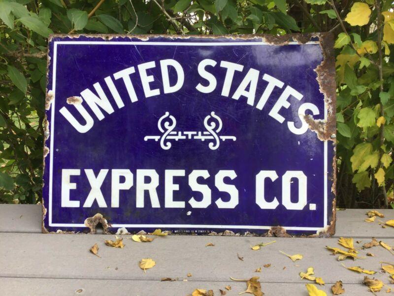 Vintage United States Express Porcelain Sign