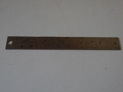 Vintage L.s. Starrett 6 Ruler And Case - No. 604r
