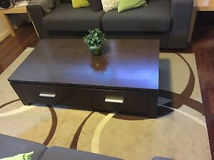 Solid wood coffee table with drawers Belmont Belmont Area Preview