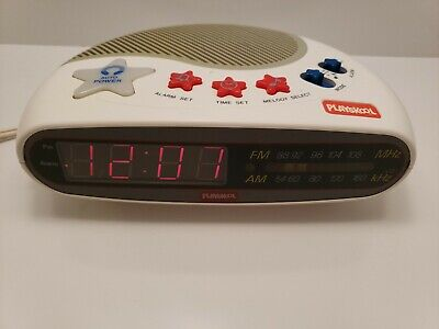 Vintage PLAYSKOOL Alarm Clock Radio Kids Toy Music Player Digital AM/FM PS-360