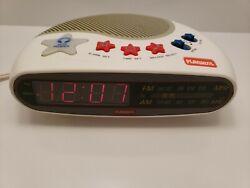 Vintage PLAYSKOOL Alarm Clock Radio Kids Toy Music Player Digital AM/FM PS-360