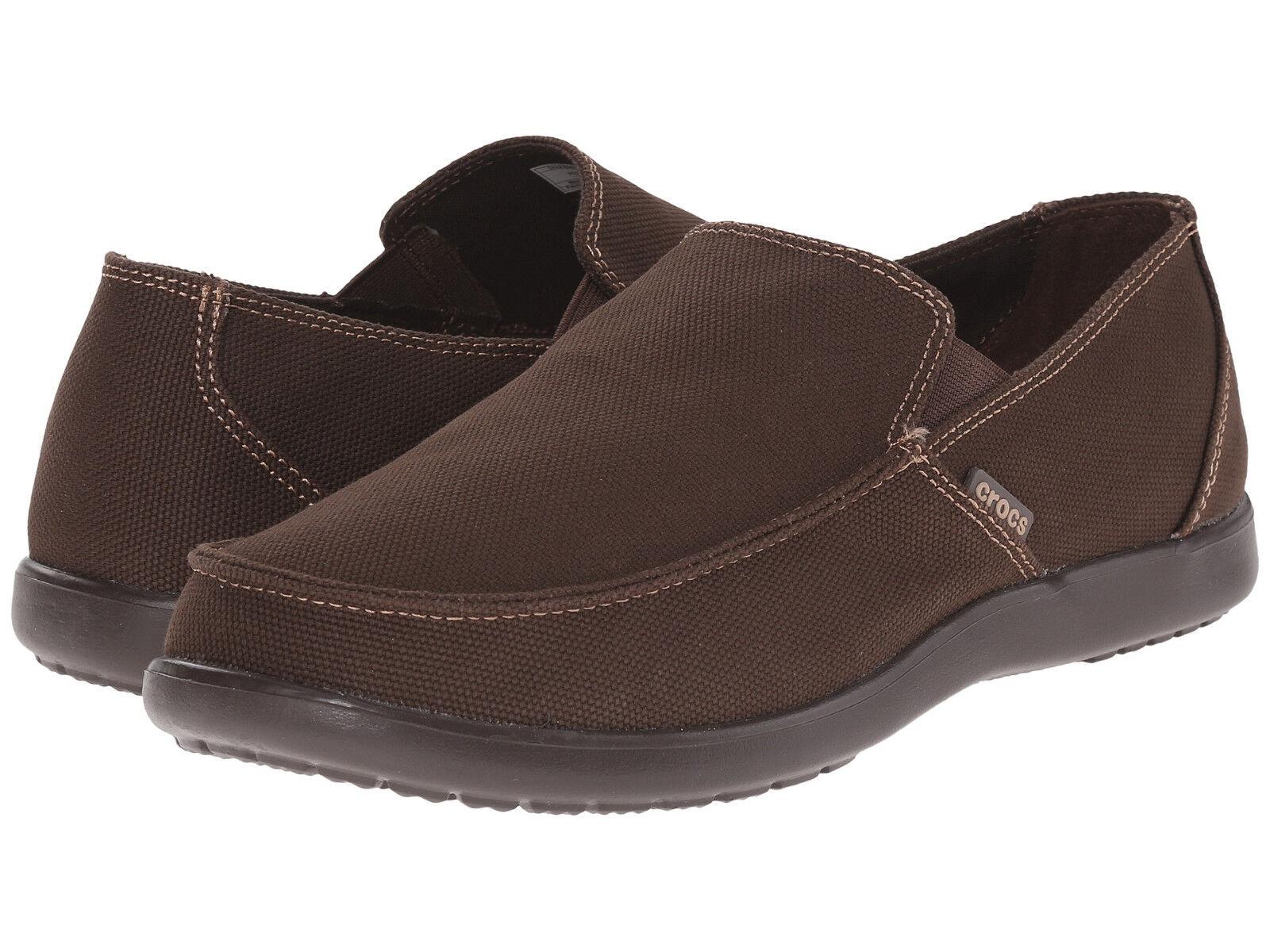 Men Crocs Santa Cruz Clean Out Loafer 202972-22Z Espresso Esp 100% Original New