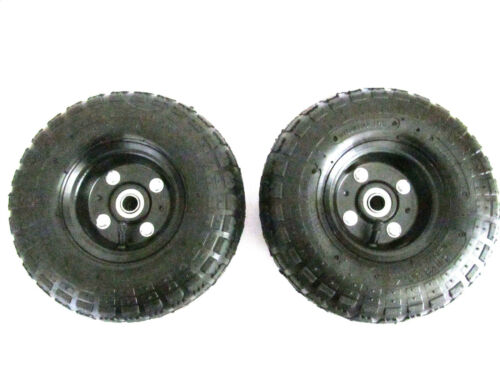 """Solution #36 Surface Cleaner Replacement  PAIR of 10"""" Pneumatic Wheel And Tire"""