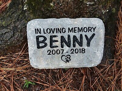 Pet Memorial Cat or Dog personalized engraved sandcarved pavers stone
