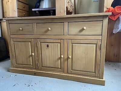 #1273 Pine Three-door Sideboard