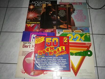 10 x records, various artists and smash hit parades etc