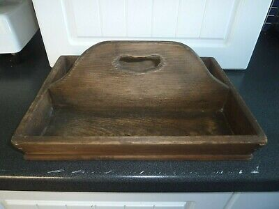 Antique Vintage Wooden Cutlery Carrying Tray