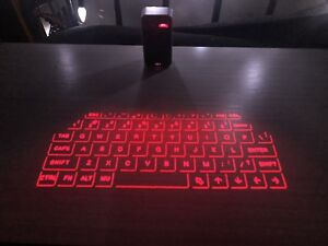 Laser projected keyboard and mouse