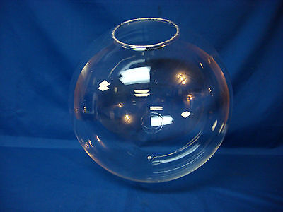 "16"" Acrylic Clear Plastic Round Globe Outdoor Light Fixture Street Lamp Post NEW"