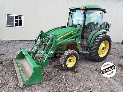 John Deere 4320 Tractor W 400cx Loader Cab Heatac 4x4 Hydro 540 Pto 48hp