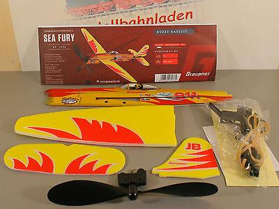 Graupner 4400 Gummimotor Flugmodell SEA FURY Graupner Fflugzeugmodell OVP. neu