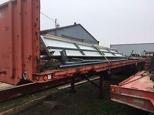 4 legged flat bed trailer