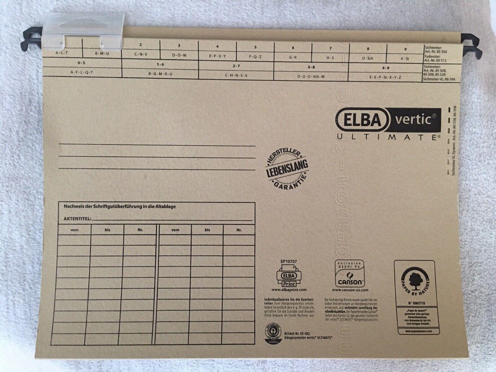 19 Hängeregister Mappen ELBA vertic ULTIMATE Artikel-Nr. 85482