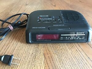 Sony Vintage Dream Machine AM/FM Clock Radio