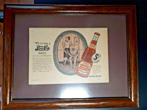 1940 Pepsi Cola Framed Advertisement