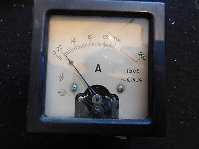 Zeiger Messinstrument 200 A DC AC Amperemeter Analog Drehspulenmessinstrument