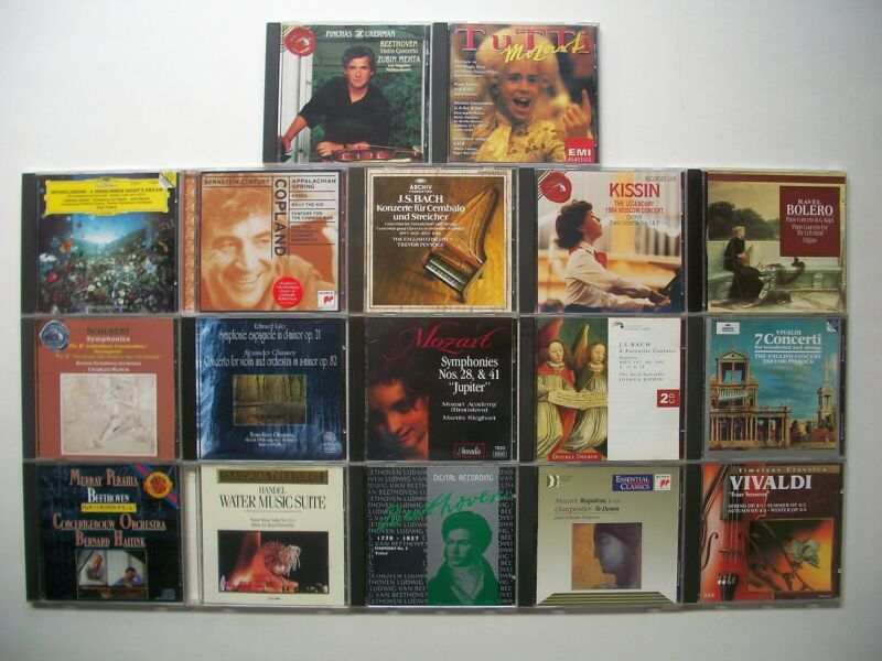 Lot of 18 CDs Classical Music A Very Nice Collection In Excellent Condition