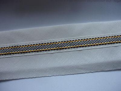 5 Meter Band 0,30€/m Farbe beige mit Streifen für Träger, Gürtel, Taschenhenkel