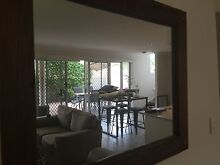 Large timber mirror beautiful rustic Coorparoo Brisbane South East Preview