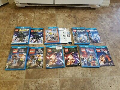 Wii U Lego Game Lot of 6