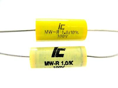 0.47uf Or 1uf 100v - Axial Polyester Metallized Film - Illinois Capacitor Nos