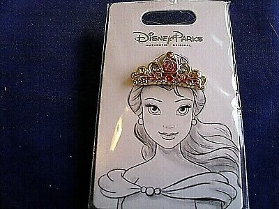 Disney * PRINCESS BELLE CROWN / TIARA - BEAUTY & BEAST * New on Card Trading Pin