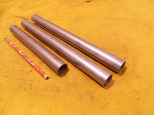 "3 pc LOT of 304 STAINLESS STEEL TUBE stock round tubing pipe 1"" OD x .035"" WALL"
