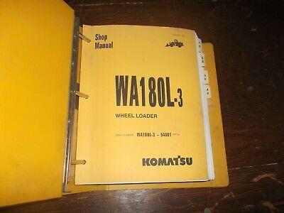 Komatsu Wa180l-3 Front End Wheel Loader Tractor Shop Service Repair Manual