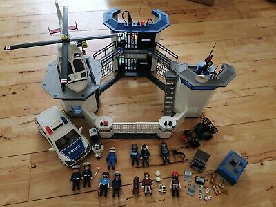 Playmobil Police Station HQ With Jail 6919 And Extras