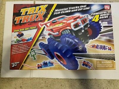 Trix Trux Monster Trucks That Flip Climb And Zip Line Powerful 4 Wheel Drive New