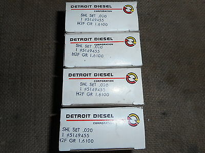 4 Connecting Rod Bearing Shell Sets For Detroit Diesel 453 .020 Pn 5149455