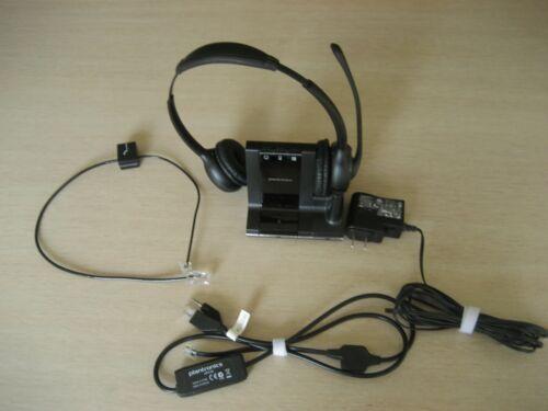Plantronics SAVI W720 w/W02 Base, AC Adapter, Phone Cable & APV-63 Cable