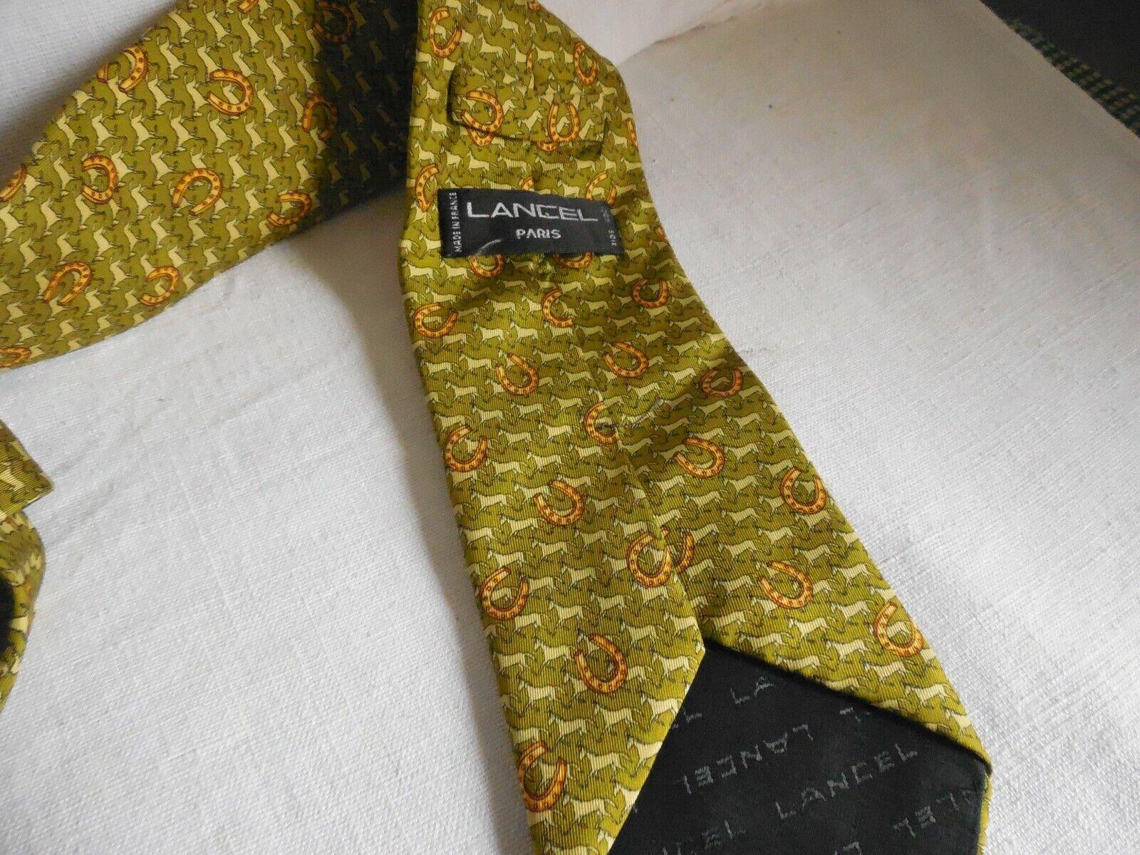 Cravate lancel en soie
