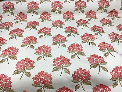 SAMUEL SIMPSON RED SUPER LUXURIOUS JACQUARD UPHOLSTERY FABRIC 3.9 METRES