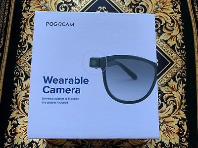 PoGoCam Tiny Removable Camera Photo & HD Video for your Glasses by PogoTec NEW